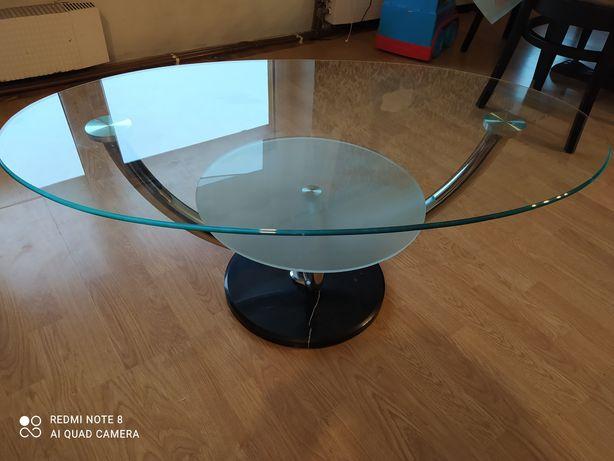 Stolik kawowy ława szkło metal granit solidny