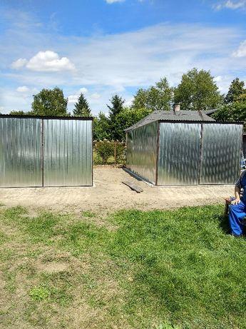 Garaż blaszak 3x5 m standardowy na budowę ocynk