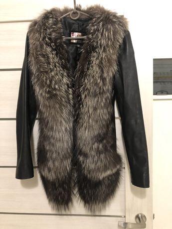 Кожаная курточка с мехом( 2 в1)