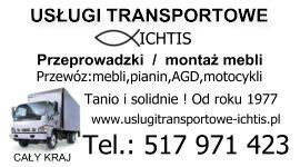 TRANSPORT-PRZEPROWADZKI PRUSZKÓW,Mazowsze,tanio i solidnie od 1977