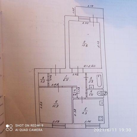 Продам двух комнатную квартиру по улице Петра Иванова
