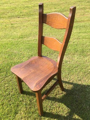 Stół i krzesła dębowe