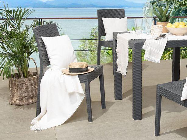 Conjunto de 4 cadeiras de jardim cinzento grafite FOSSANO - Beliani