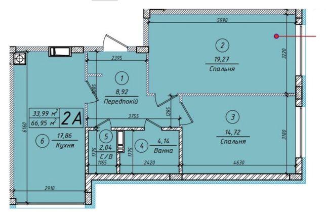Продам просторную 2к квартиру ЖК Петровский квартал