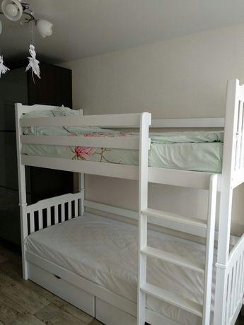 Детская двухъярусная кровать-трансформер из массива бука Черри