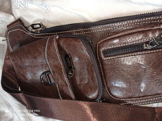 Портмоне мужское, сумка кошелек на плечо