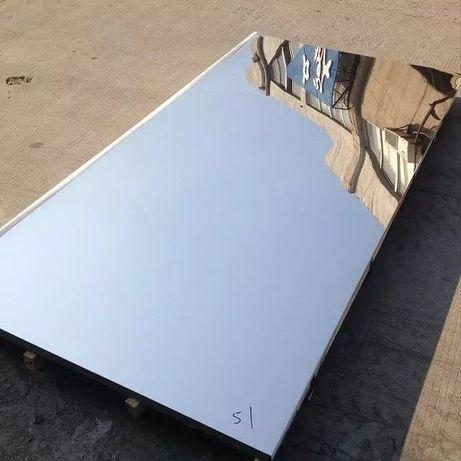 Нержавейка листовая, зеркальная. Толщина 0.5 мм. Лист: 1000х2000 мм