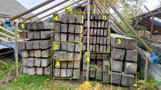 Drewno w balach powietrzno suche, leżakuje 9 lat.