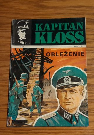 """Komiks Kapitan Kloss """" Oblężenie"""" nr 18 wyd. I z 1973 roku"""