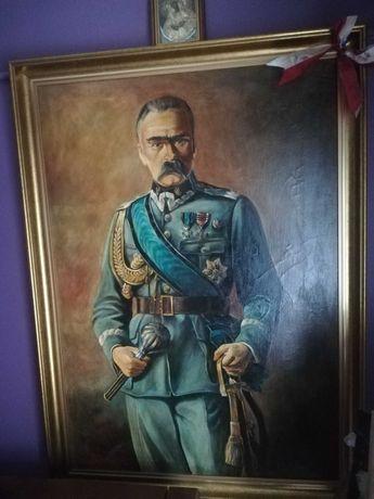 Piękny  obraz Marszałka Józefa Piłsudskiego