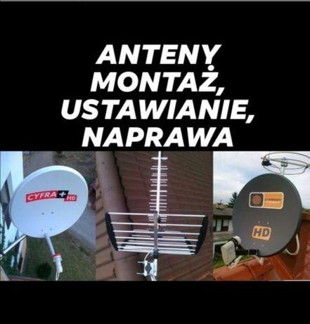 Ustawianie Anten Satelitarnych Montaż i Naprawa Polsat, nc+,i DVB-T