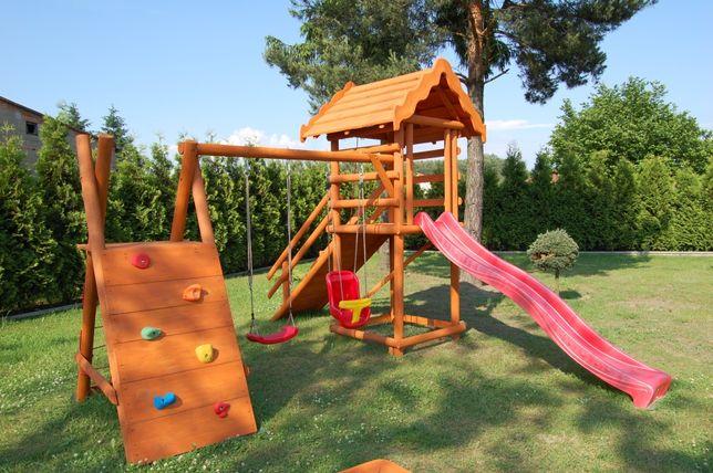 Plac zabaw ogrodowy drewniany 3 m ślizg dla dzieci