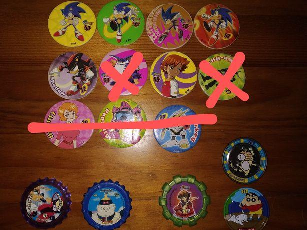 Tazos Sonic, Shin Shan, Yu-Gi-Oh, Dragon Ball