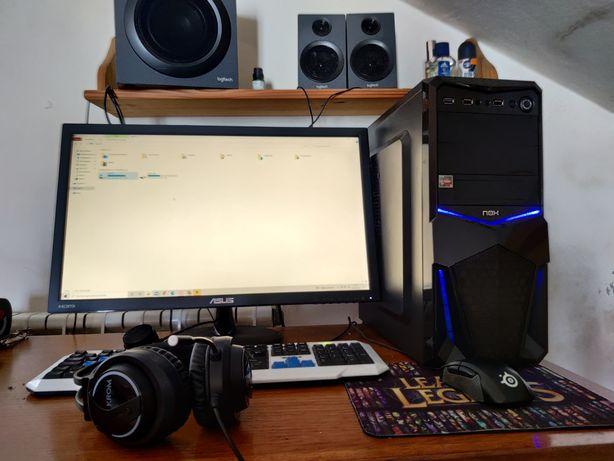 PC Gaming com ryzen 5 2600 e placa gráfica rx580 8gb dedicados