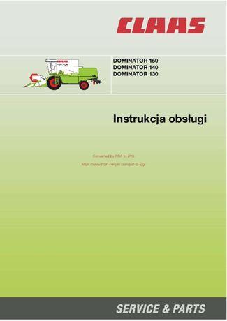 Instrukcja obsługi kombajnu claas dominator 140, 150 160