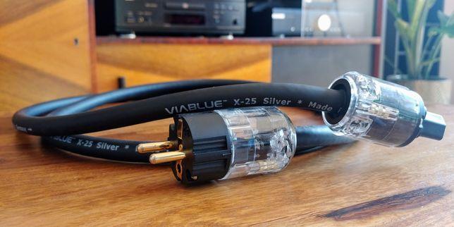 Kabel zasilający Viablue X-25 2m wtyki Viborg