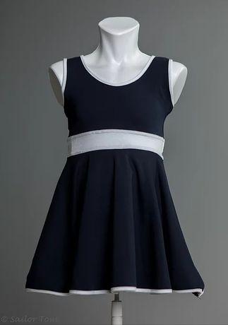 Granatowa sukienka dziewczęca 116