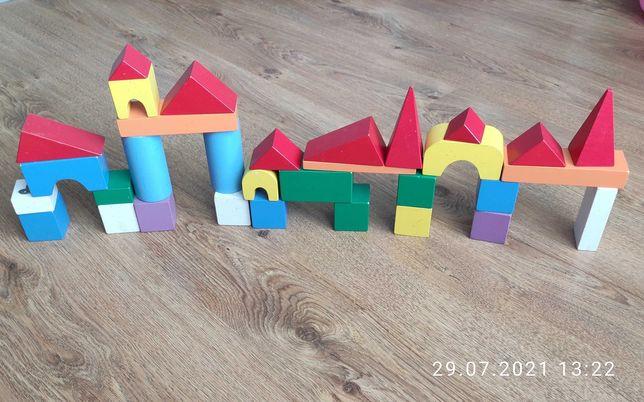 Кубики деревянные,конструктор,деревянные кубики,32 шт