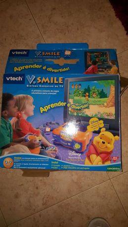 Consola v.smile com 2 jogos comando e ligação tv