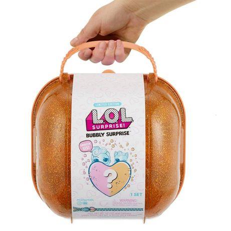 Набор ЛОЛ Cердце-сюрприз в оранжевом кейсе LOL Bubbly Surprise