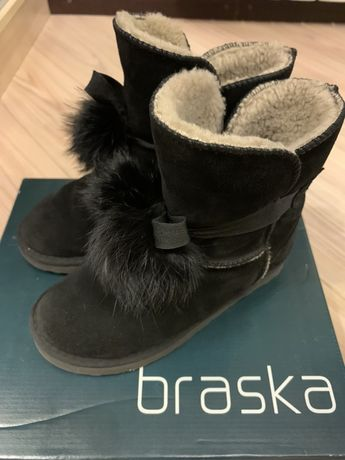 Зимние сапожки для девочки Braska