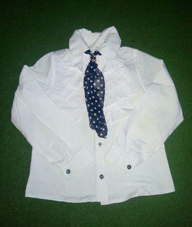 Блуза школьная с галстуком