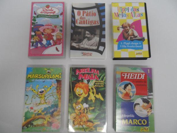 Cassetes VHS e DVDS - animação infantil