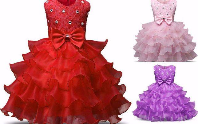 Sukienka ŚWIĘTA BAL KSIĘŻNICZKA 3 kolory 4-7 lat 24H Z POLSKI