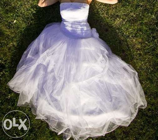 """Tiulowa suknia ślubna """"Księżniczka"""" + dodatki"""