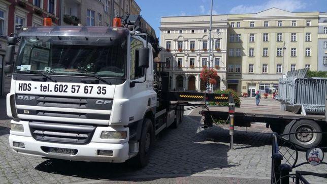 Transport HDS Wrocław. Przewóz kontenerów, maszyn budowlanych itp