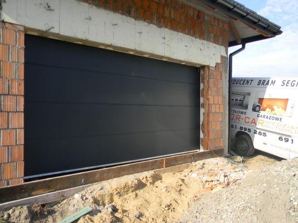 Brama segmentowa garażowa -500 x 225 na wymiar ANTRACYT