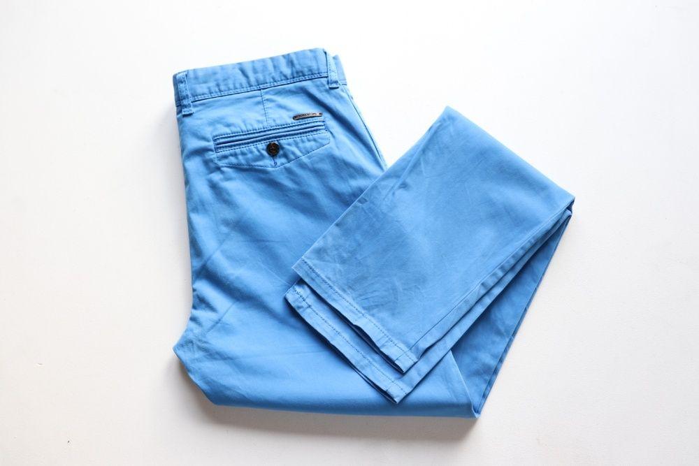 Męskie spodnie chinosy McNeal W32 L32 idealne niebieskie regular fit Węgierska Górka - image 1