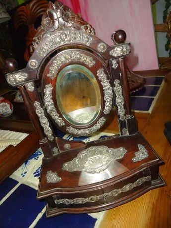 Toucador de Mesa em Pau Santo e Prata Guarda - Jóias
