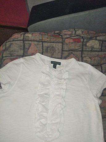 Bluzeczka z żabotem Ralph Lauren M