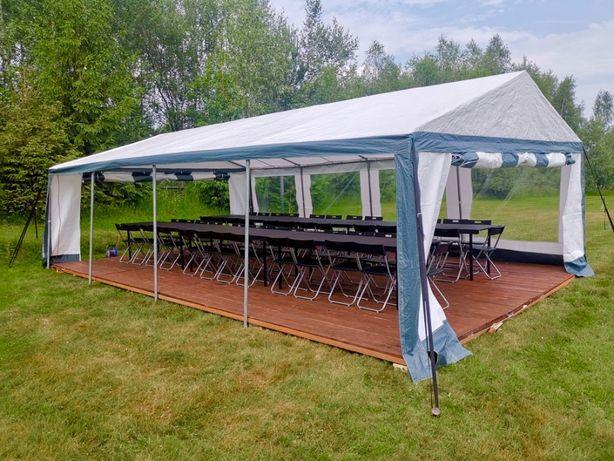Wynajem ławostołów i namiotów imprezowych z kompleksowym wyposażeniem