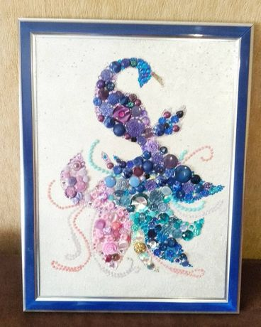 Handmade Картина пано из пуговиц