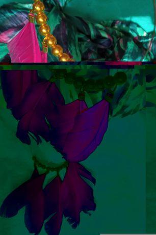 indyjskie kolczyki pióra w modnym kolorze fuksji