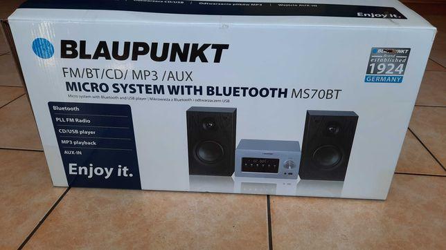 Nowa ! Mini wieża Blaupunkt MS70BT USB MP3 CD radio AUX bluetooth.