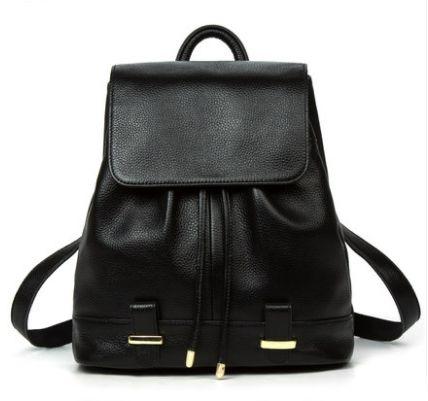 Рюкзак женский кожаный цвет черный, есть синий и красный. New model.