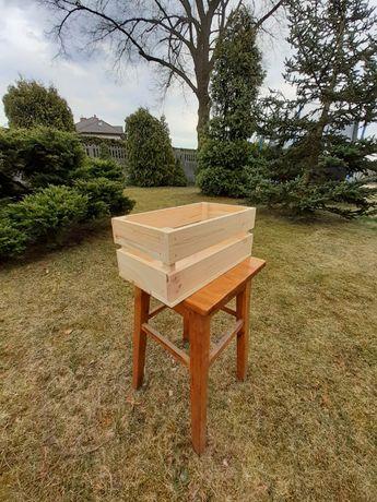 Skrzynka drewniana skrzyneczka drewniana skrzynka prezentowa naturalna