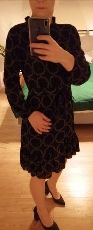 Sukienka S / M ciemna zieleń