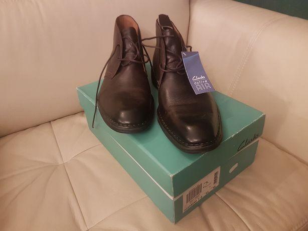 Buty skórzane Clarks, Daily Craft, Ebony Leather, rozmiar 46