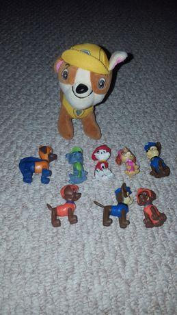 Maskotka Rubble i 8 figurek z Psiego Patrolu