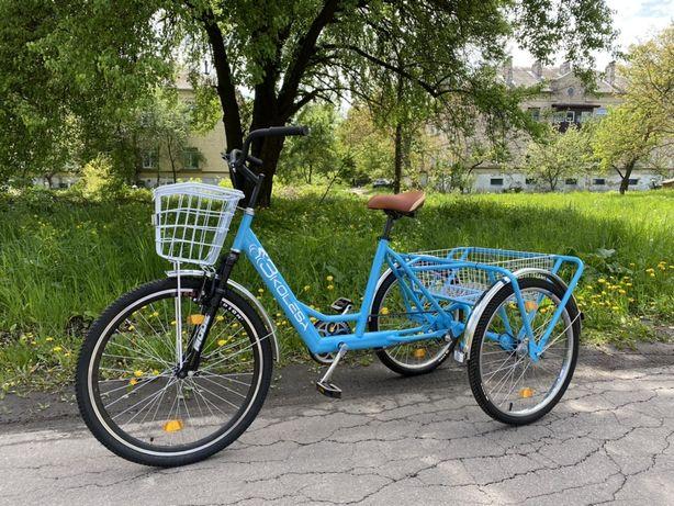 Украинский трехколесный велосипед для взрослых, грузовой трайк