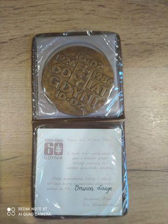 Medal Gdynia, z nadaniem. 60 lat Gdyni. 1986 rok. Starocie.