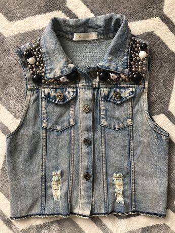Безрукавка джинсова жіноча