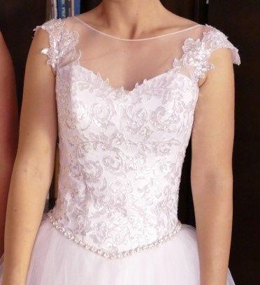 Suknia slubna kryształki Swarovskiego
