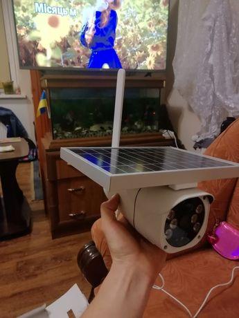 Wifi Камера на сонячні батареї з підсвітою нічного бачення, доч руху.
