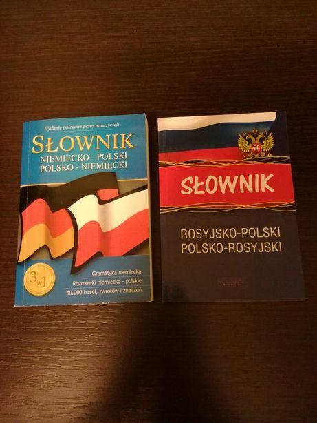 Słowniki polsko-niemiecki i polsko-rosyjski