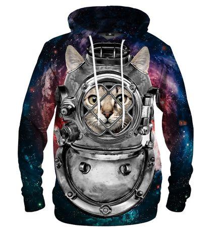 MR. GUGU & MISS GO nowa bluza damska - rozmiar S (Astronaut Cat)